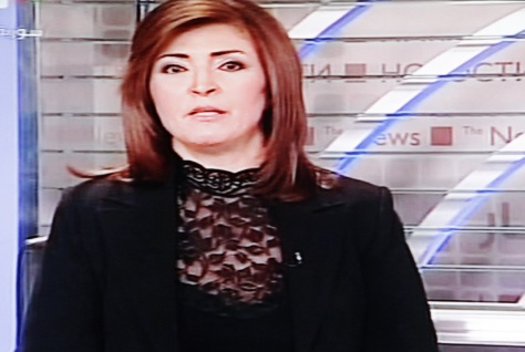 News reader, Syrian TV, December 2012