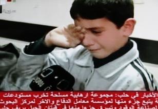 Distress of boy after car bomb