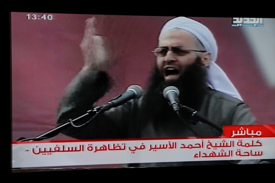 Salafi Jihadist at rally in Beirut early 2012 calls for jihad against Syrian government