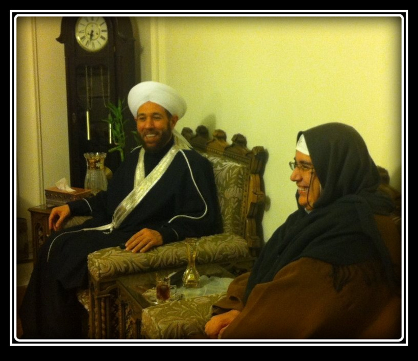 Mother Agnes Mariam at a meeting with Grand Mufti Ahmad Hassoun, Damascus, 2013