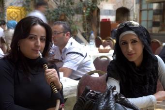 Girl Smoking Hookah In Beit Jabri