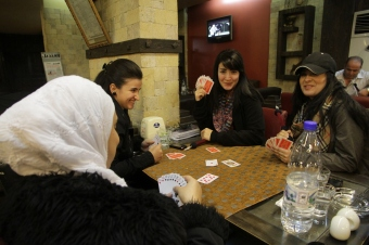 Playing Cards Damascus Cafe