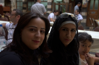 Two Women And One Girl In Beit Jabri